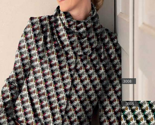 Schluppen Bluse mit Bindekragen