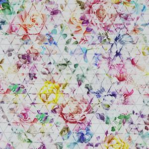 Blumenmuster auf Dreiecken