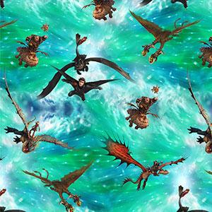 Der neue Stoff mit Motiven von Drachenzähmen leicht gemacht